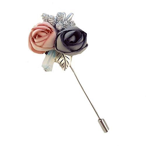 Y レディースアクセサリー ハットピン ブローチ 金具 帽子 お花 薔薇 A