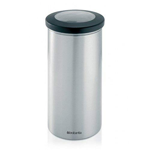 Brabantia 391002 Boîte à Provision Clear Top Matt Steel Fingerprint Proof 1,5 L