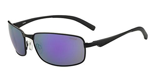 bollé Erwachsene Key West Sonnenbrille, Matte Black, Medium