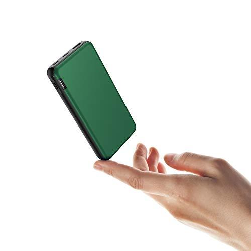 ButcHer Bateria Externa 20000mAh, Powerbank con 2 Entradas (USB-C+Micro) Compatibles con Todos Los Teléfonos y Tabletas(Verde)