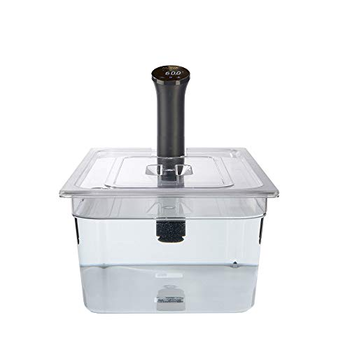 Polycarbonaat Sous Vide Container met op maat gesneden deksel om de Anova Nano Sous Vide Cooker te pakken, 20 Litre, 1