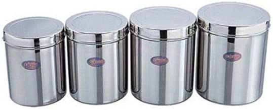 Amazon Com Indian 4pc Stainless Steel Food Storage Containers