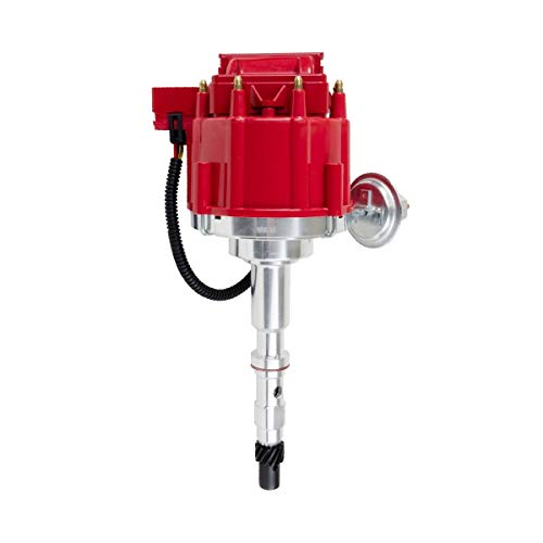 a-team performance 65k coil red cap hei complete distributor compatible  with amc/jeep