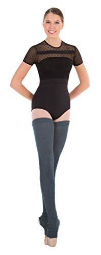 Body Wrappers 48' Charcoal Grey Extra Long Stirrup Leg Warmers -...