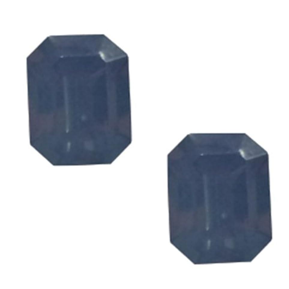 ミニ一般的に言えば西POSH ART ネイルパーツ長方形型 4*6mm 10P ブルーオパール