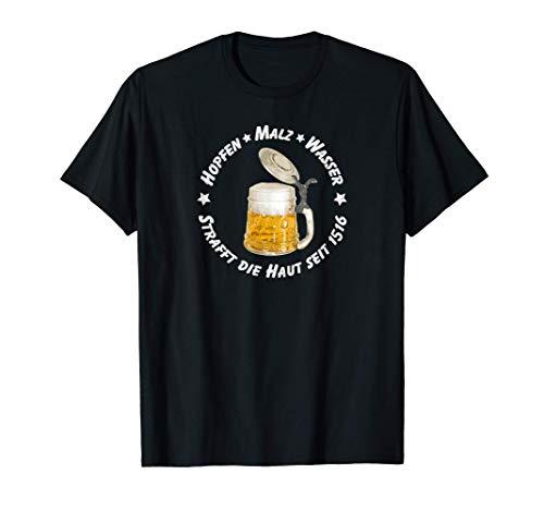 Herren Bier Reinheitsgebot 1516 Bierbauch Hopfen Malz Geschenk Mann T-Shirt