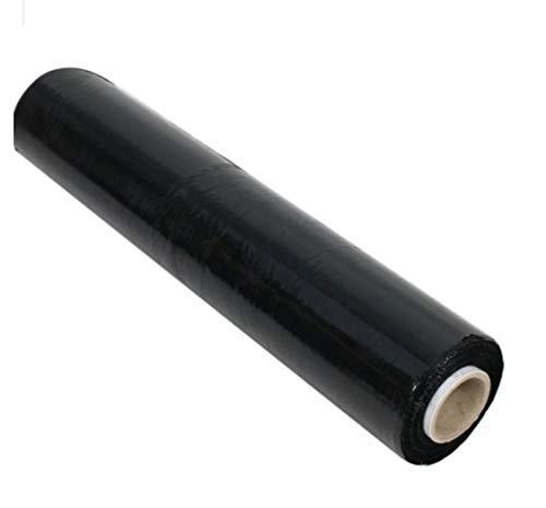 1 Rolle schwarze Stretchfolie 3,1kg 500mm x 270m | Verpackungsfolie in 23my | wählbare 1-12 Rollen Umzugsfolie | Packfolie für Möbel