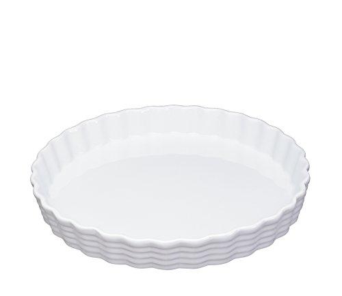 Küchenprofi Tortenform 30cm Burgund, Porzellan, Weiß, 5.4 x 31.6 x 31.6 cm
