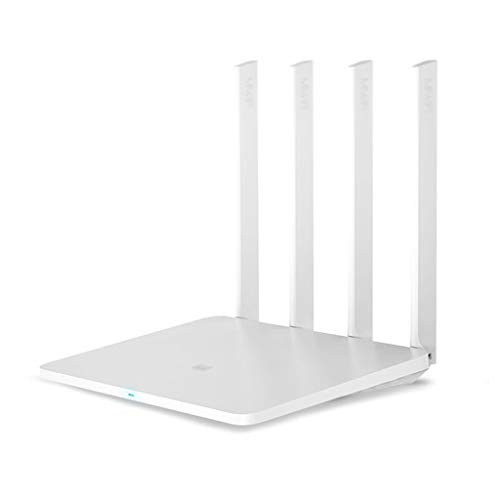 BingWS -Routers Router Original Xiaomi Mi WiFi 3G 1167Mbps 2.4GHz 5GHz Dual Band 128MB ROM Wi-Fi 802.11ac Cuatro potentes Antenas de Alta Ganancia (Color : White, tamaño : Add EU Adapter)