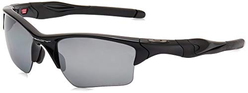 Oakley Half Jacket 2.0, Gafas de Sol para Ciclismo, Hombre, Polished Black Frame/Black Iridium Polarized Lens, 62 mm