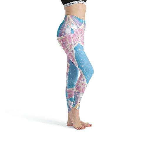 Toomjie Damen Yoga Laufhose Broek Sport Gym Leggings Response Raum Ringe Mandaladruck Streetwear Skinny Been
