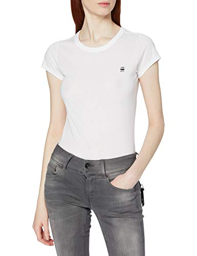 G-STAR RAW Eyben Slim R T Wmn S/s Camiseta, Blanco (White 110), M para Mujer