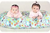 THE TWIN Z PILLOW - CREAM - 6 uses in 1 Twin Pillow ! Breastfeeding, Bottlefeeding, Tummy Time, Reflux, Support and P...