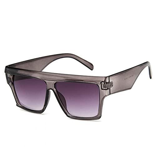 BAJIE Gafas de Sol Mujer, Gafas de Sol cuadradas, Gafas de Sol cuadradas con Montura Grande, Gafas de Sol cuadradas para Mujer y Hombre, Gafas de Sol a la Moda