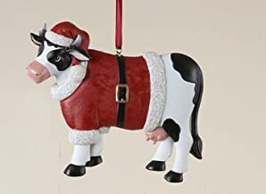 KURT ADLER METAL WEATHERVANE COW FARM THEME CHRISTMAS TREE ORNAMENT