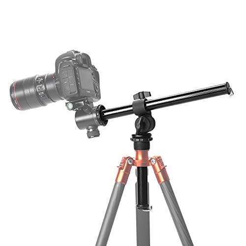 Neewer Kamerastativ Auslegerarm Externer Mehrfachwinkel Mittelsäulenausleger für Studio Außenmakro Überkopfaufnahmen (32cm Länge bis zu 5kg Kugelkopf Nicht enthalten)