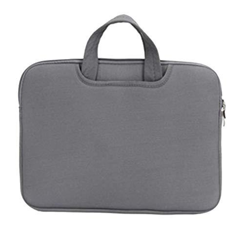 Funda para Portátiles/Maletín con Asa para Ordenador Portátil Notebook/Ultrabook Tablet de Maleta Bolsa de Transporte,Gris