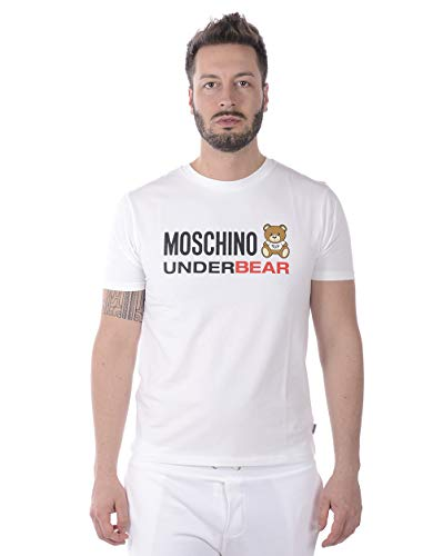 Moschino Underwear A 1920 8133 Camiseta Hombre Blanco XL