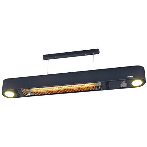 Heizstrahler Wand- und Deckenaufhängung mit LED Beleuchtung und Fernbedienung - 3