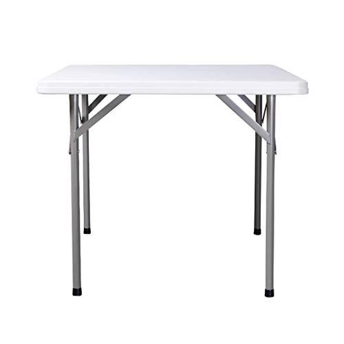 Klaptafel draagbaar (zonder stoel), vierkante tafel binnen en buiten, dubbel gebruik, paraplu, gat, handgreep voor camping zonder installatie
