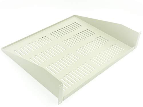 "Generic 2U 19""Rack Estante ventilado Cantilever/módem 400mm de profundidad para rack gabinete gris gris"