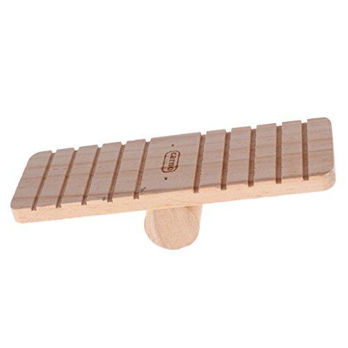 Homyl Haltbar Wippe Brücke Sportgerät Spielzeug für Nager Hamster Mäuse, aus Holz, 7.48x2.76x1.97Zoll