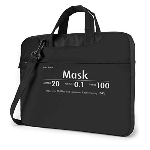15.6 inch Laptop Tasche Schultertasche Bussiness Messenger Tablet Tasche Laptophülle Masken-Skyrim-Beute