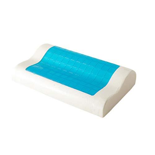 HYQQ Cuscino in Gel, Cuscino per Terapia di Contorno in Memory Foam Premium, con Gel rinfrescante, Lavabile, allevia Il Dolore al Collo e alle Spalle