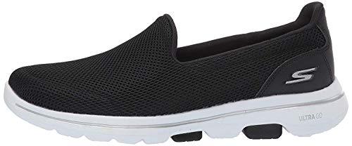 Skechers Women's GO Walk 5 Trainers, Black (Black Textile/Wh