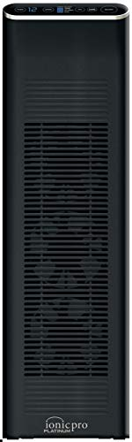 ENVION - Ionic Pro Platinum, Negative Ion Air Purifier Tower for Rooms Up to 500 sq. ft. (Black)
