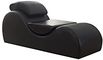 US Pride Furniture Modern Faux Leather Upholstered Yoga Chair