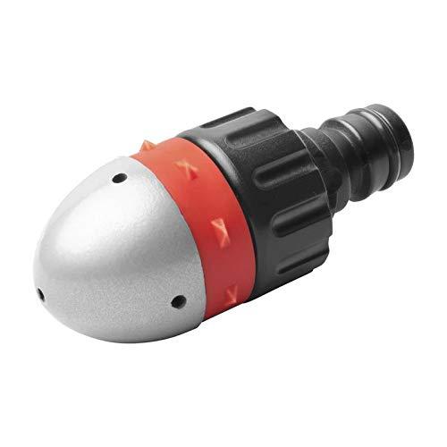UPP Rohrreinigungsdüse mit Steckkupplung   Hochdruckdüse kriegt jeden Abfluss und jedes Rohr wieder frei   Passt auf jeden Gartenschlauch   Ideal auch für Toilette & Dachrinne