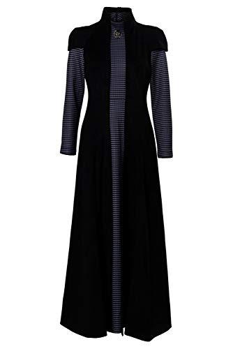 Mujer Disfraz de Cosplay de Cersei Lannister Halloween TV Cosplay Costume Dress Vestido Largo de Reina Medieval, S