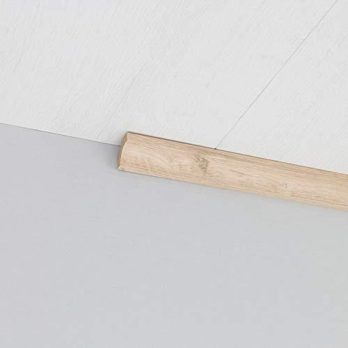 Hohlkehlleiste Abschlussleiste Abdeckleiste aus MDF in Eiche Klar 2600 x 24 x 24 mm