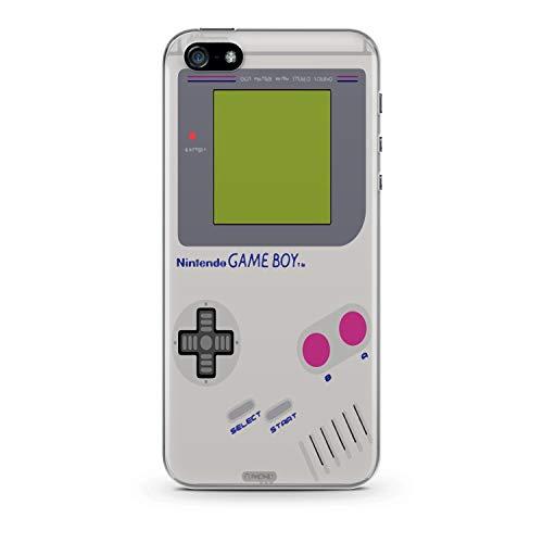 Finoo Handyhülle kompatibel für iPhone 5 / 5S / SE - Hülle mit Motiv und Optimalen Schutz TPU Silikon Tasche Case Cover Schutzhülle - Gameboy
