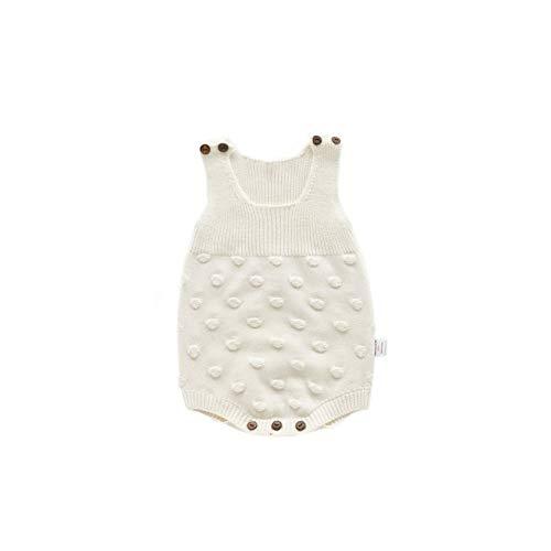 Hongyuangl Unisex Baby Warm gestrickte Feste Strampler häkeln Body Overalls Neugeborenen Gurt Pullover Jumpsuit