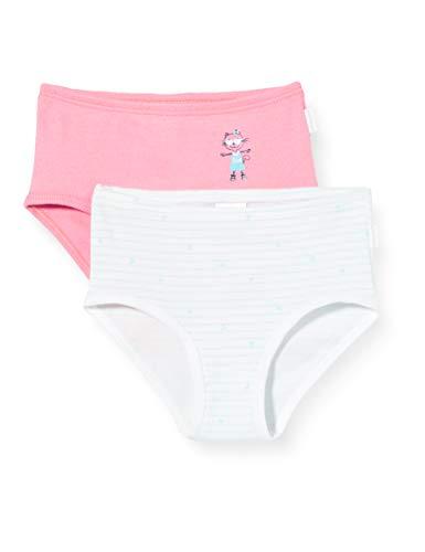 Schiesser Mädchen Multipack Cat Zoe 2pack Hüftslips Unterhose, Mehrfarbig (Sortiert 1 901), (Herstellergröße: 116) (2er Pack)