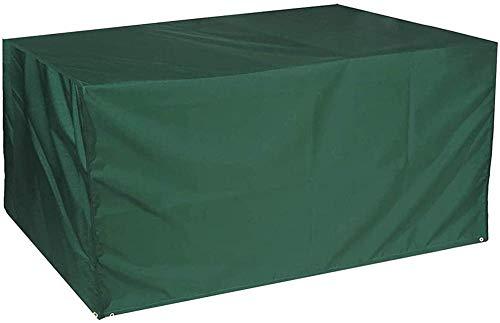 Fundas para Muebles de jardín Impermeable Oxford Tela Protectora Viento Paño Resistente Polvo Anti-UV Protección Exterior CubiertasCopertura Mesas Sillas Sofás 123x61x72cm(48x24x28in)/Verde