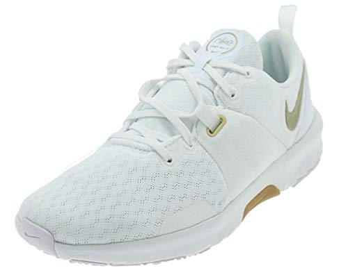 Nike Wmns City Trainer 3, Zapatillas Deportivas Mujer, White Mtlc Gold Star Summit White Sesame Gum Lt Brown, 36.5 EU