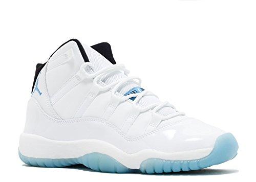Nike Air Jordan 11 Retro BG, Chaussures de Fitness Fille, Blanc Bleu (White Legend Blue Black), 40 EU