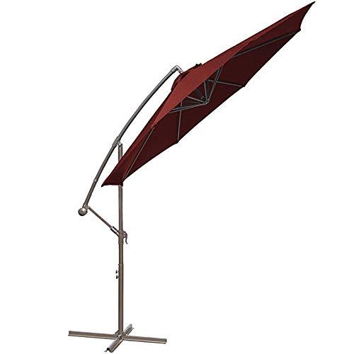 HYR Paraguas De Patio De 10 Pies Liquidación para Exteriores Aluminio Mejorado con Protección UV con Bases Cruzadas Paraguas para Exteriores