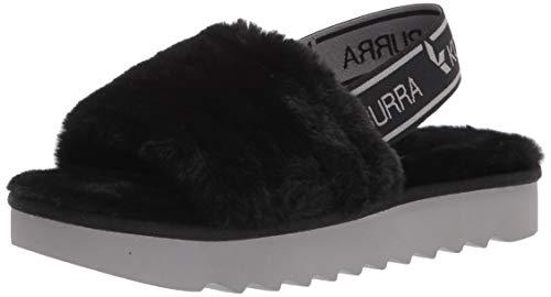 Koolaburra by UGG womens Fuzz'n Ii Slipper, Black, 8 US