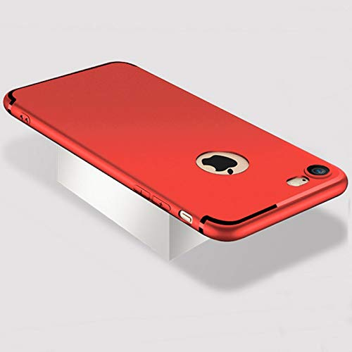 numerva Funda compatible con iPhone 5 / 5S y iPhone SE (2016) TPU funda fina funda protectora color rojo mate