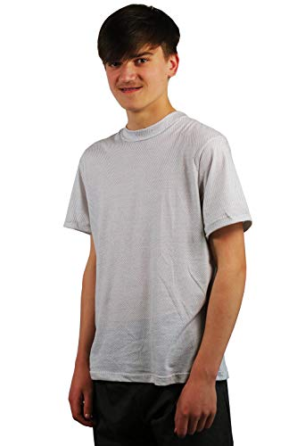 EMF Clothing Shield EMFs with This Attractive T-Shirt (Male, Extra Large) Chest 42-44 Inches White