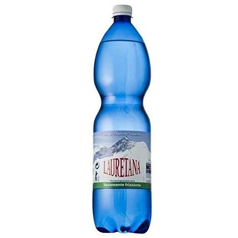 6 Bottiglie ACQUA LAURETANA Lievemente FRIZZANTE 1500 ML PET