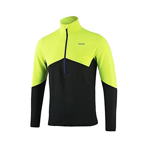 CCCYT Abbigliamento Ciclismo Manica Lunga Giacca da Ciclismo da Uomo Antivento Traspirante Giacca Ciclismo