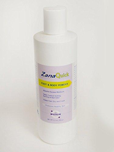 Zanaquick Antifungal Powder Foot and Body Powder for Itching, Burning and Odor, Athletes Foot Remedies, Nail Fungus Treatments