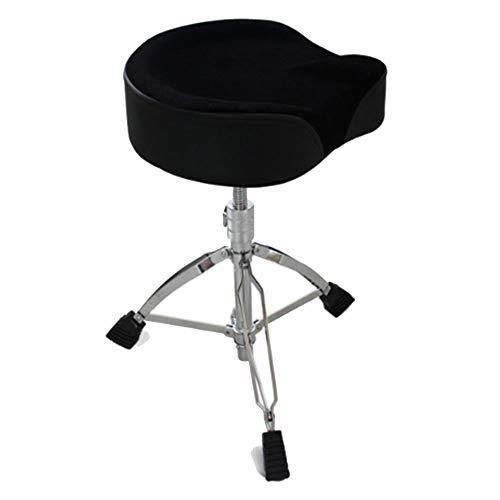 WEIYV-Barhocker,Dreh- & Arbeitshocker Trommel Trommel Elektronische Trommel Trommelhocker Beruf Gewindeschraube Trommelhocker Bold Rotate Lifting Trommelhocker (Color : Black, Size : 44-55cm)