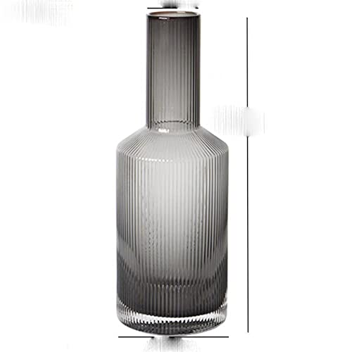 Japanese Transparent Glass Tea Cup Large Capacity Water Bottle Juice Jug Home Pritcher Carafe Kitchen Tea Pot Kettle Drinkware-Grey 800ml