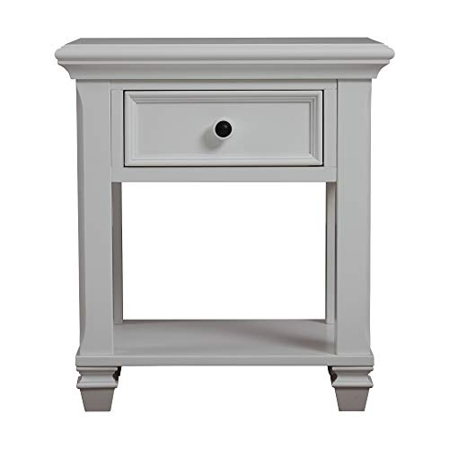 New Baby Cache Glendale 1 Drawer Nightstand Pure White